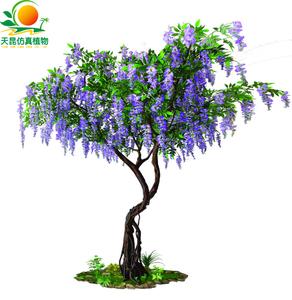 造型仿真紫豆花树