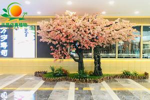 双色造型仿真樱花树