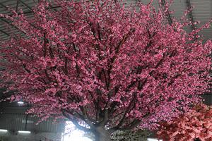造型仿真桃花树