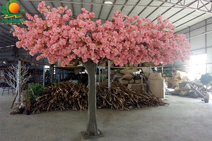 玻璃钢半边樱花树