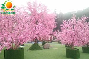仿真桃花树造景