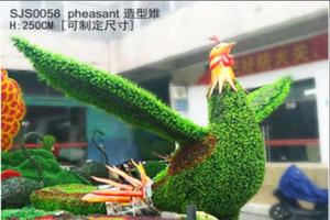 公鸡造型仿真绿雕