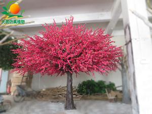 仿真红桃花树