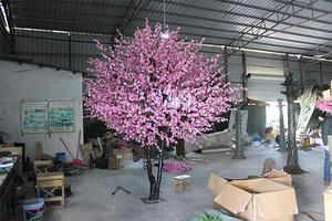 双杆仿真桃花树